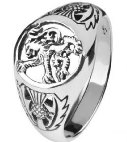 Scottish Lion Silver Signet Ring 9290